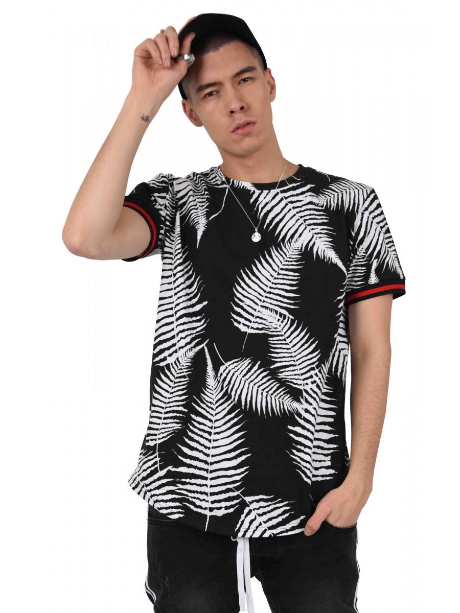 720006ac61e5 Tee shirt imprimé tropical bicolore Homme Project X Paris