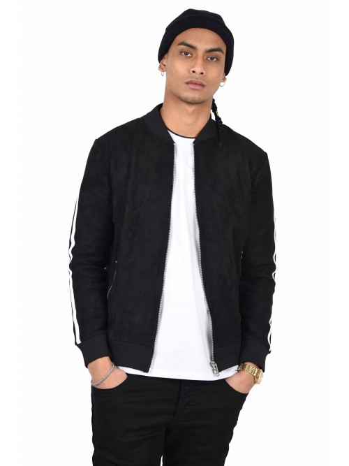Suede  bomber jacket with double side stripes Project X Paris