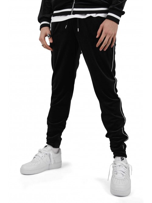 Pantalon jogging velvet à liserés Project X Paris 57298c8f7b9a