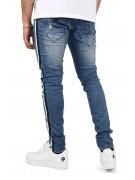 Jean skinny délavé bandes bicolores Homme Project X Paris