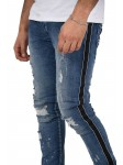 Paint sprayed  skinny jeans with contrasting stripes Project X Paris