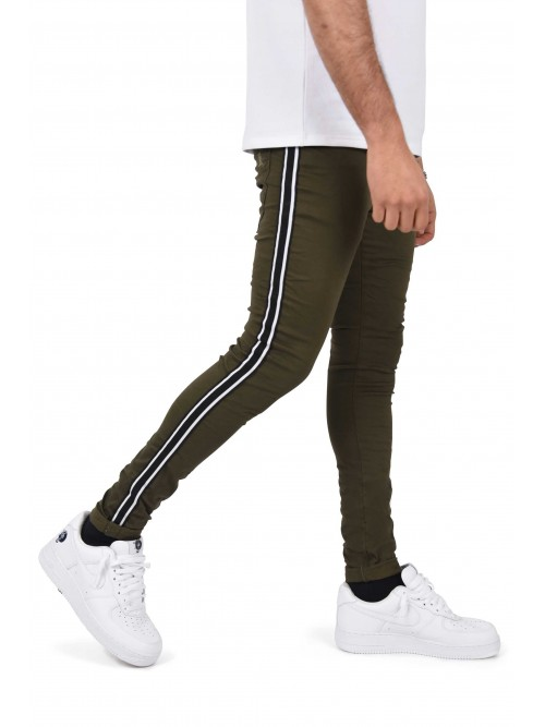 Skinny jeans with two-tone stripes Project X Paris