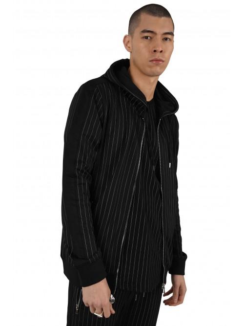 Veste à capuche à rayures tennis et bandes contrastantes Homme Project X Paris