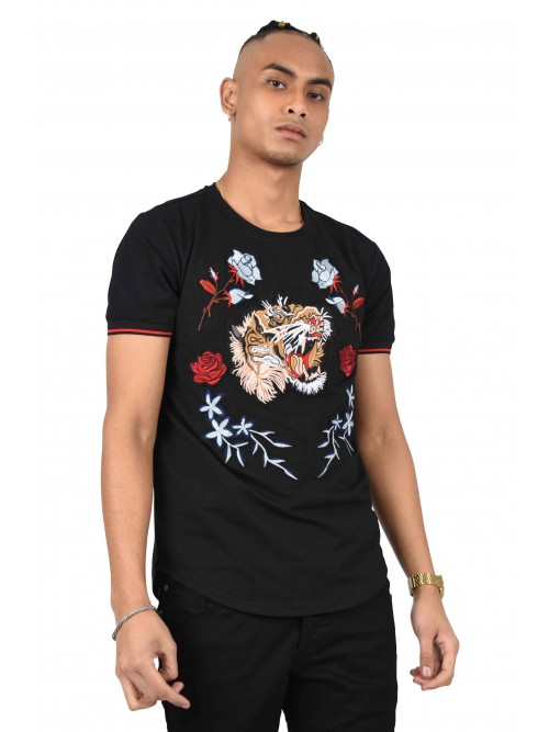 Tee shirt patch Flower & Tiger Homme Project X Paris