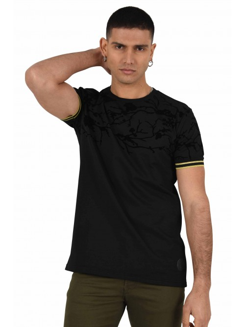 Tee shirt motif floral relief velvet Homme Project X Paris