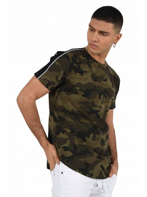 Tee shirt camo bandes bicolores Homme Project X Paris