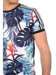 9aa0f5f03a9b Tee shirt imprimé tropical coloré et bandes contrastantes Homme Project X  Paris