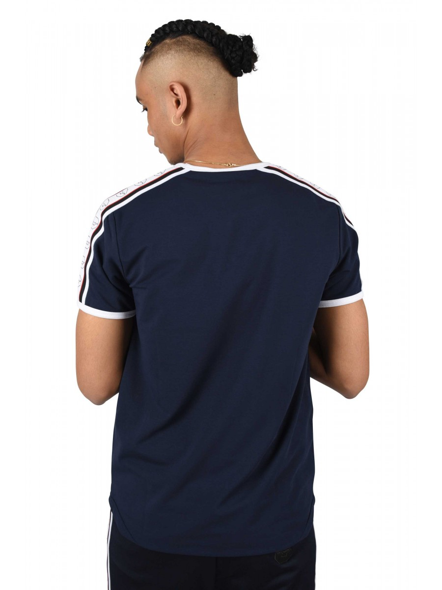 7899bda4c0 T-Shirt with Contrast Stripe and Octagon