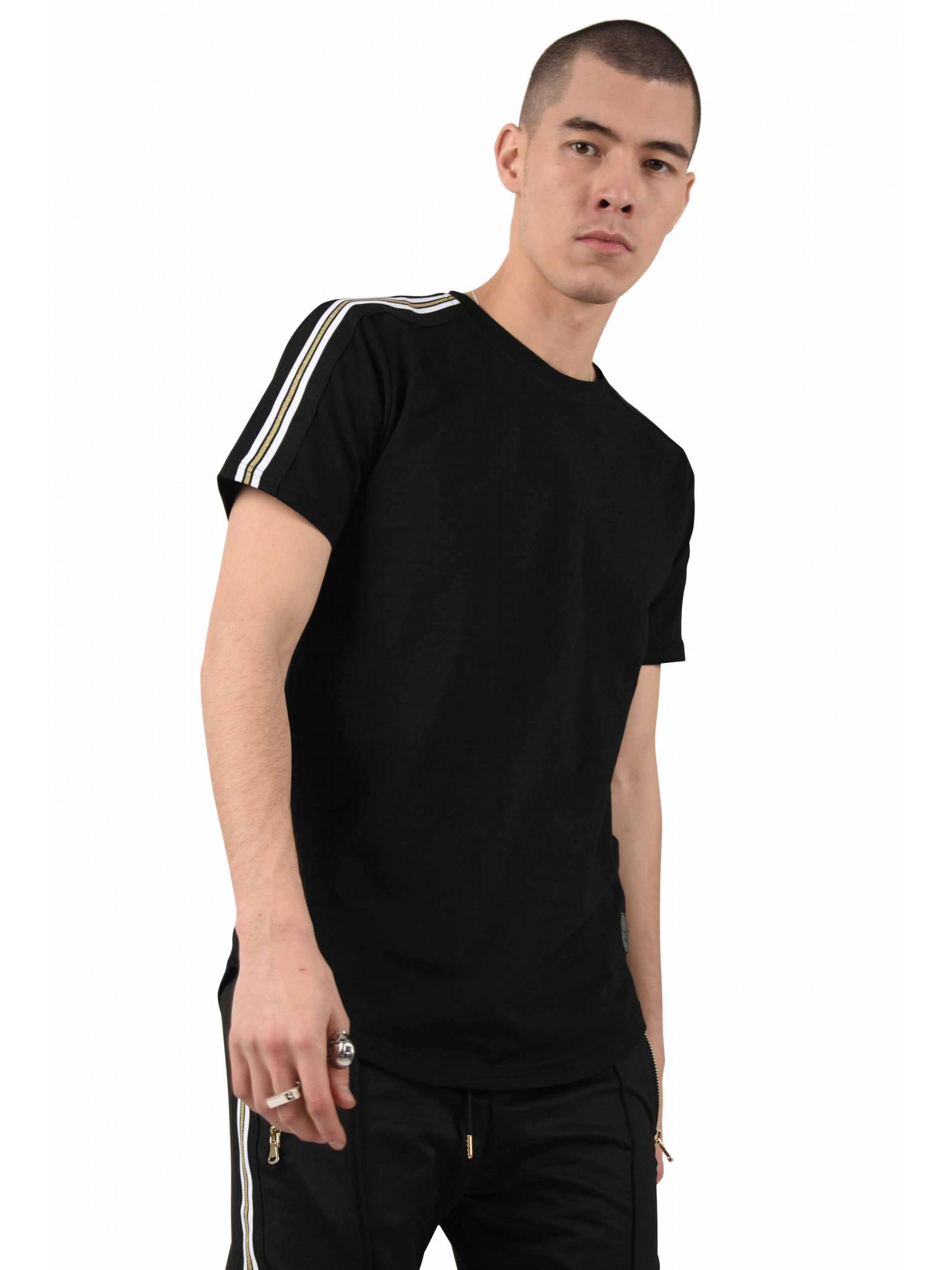 tee shirt uni bandes contrastantes dor es homme project x paris. Black Bedroom Furniture Sets. Home Design Ideas