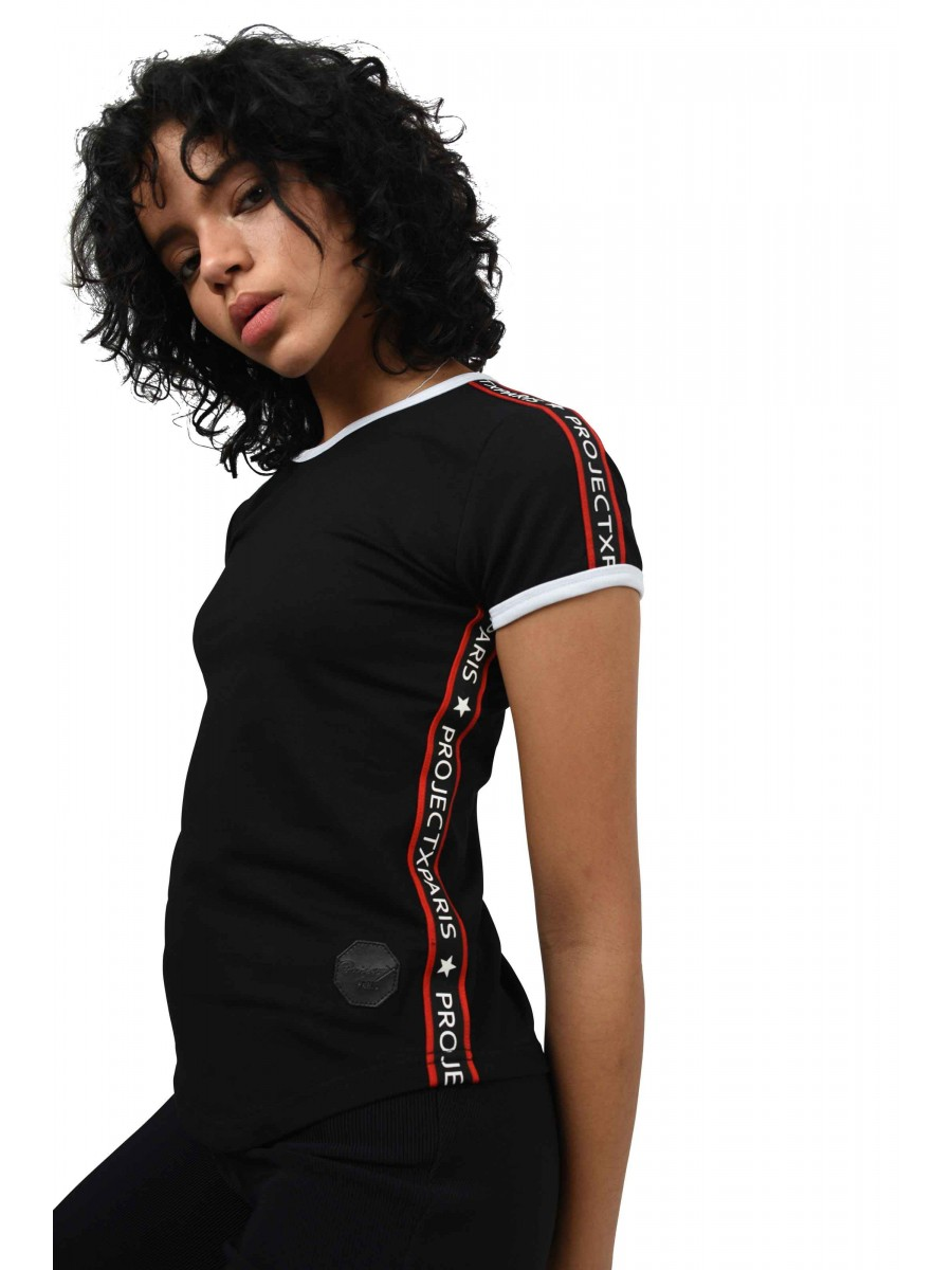 Tee shirt bandes contrastantes Femme Project X Paris