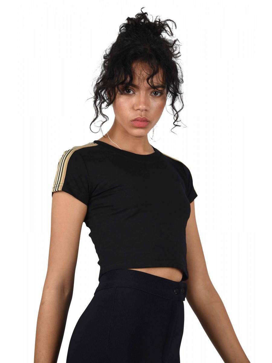 d91fa3acf0f865 Women s Crop Top with Side Stripe Project X Paris