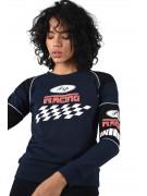 Sweat imprimé racing et damier bicolore Femme Project X Paris