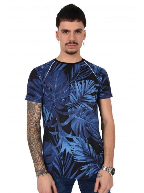 Tee shirt motif tropical bandes Homme Project X Paris