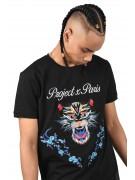 Tee shirt panthère et patch florales Homme Project X Paris