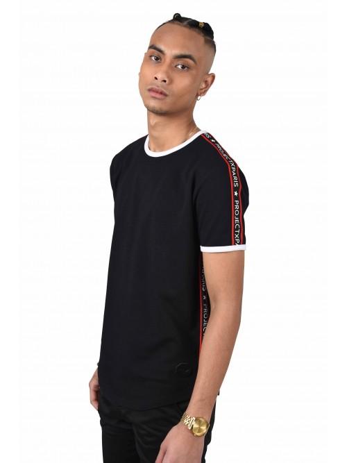 Tee shirt bandes contrastantes logo Homme Project X Paris