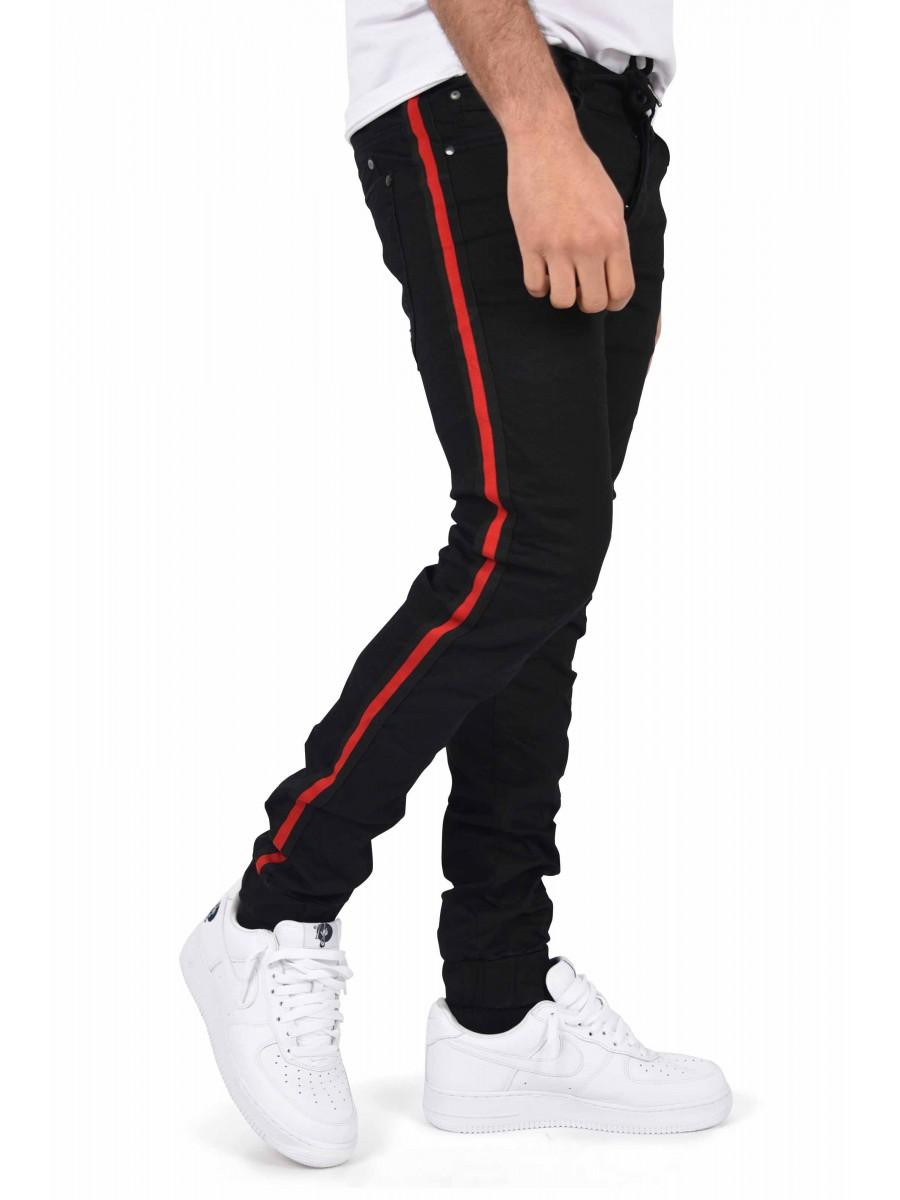 Jogg Jeans slim bandes bicolores Homme Project X Paris