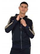 Hoodie zippé à bandes équestres Homme Project X Paris