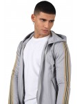 Men's zipped tracksuit jacket with side stripes.