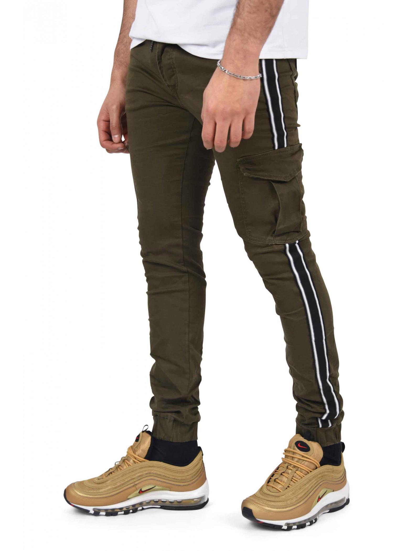 pantalon cargo bandes bicolores homme project x paris. Black Bedroom Furniture Sets. Home Design Ideas
