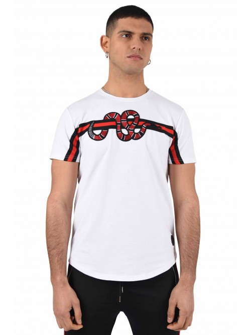 Tee shirt patch Snake bandes Homme Project X Paris