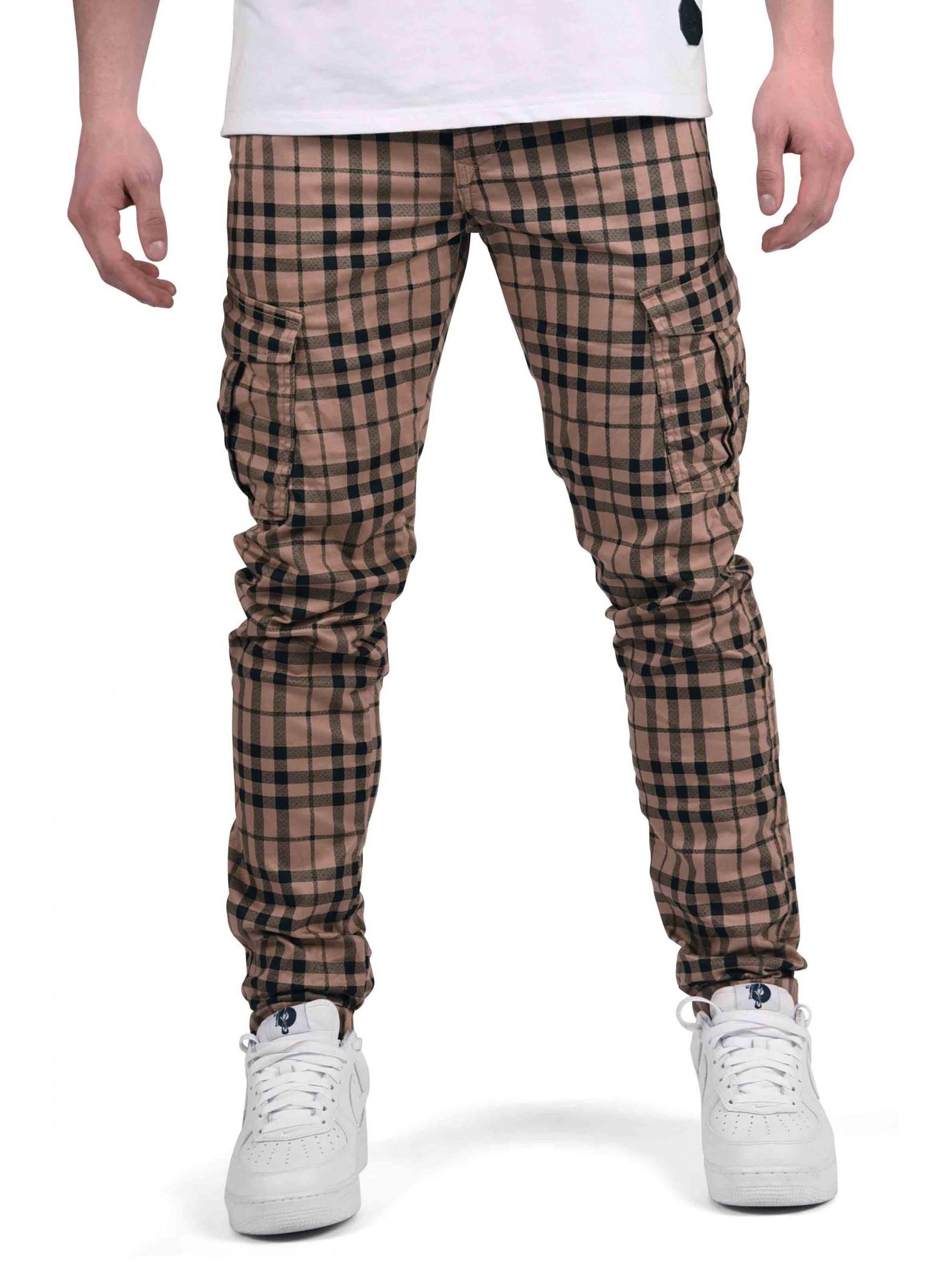 pantalon slim cargo imprim cossais homme project x paris. Black Bedroom Furniture Sets. Home Design Ideas