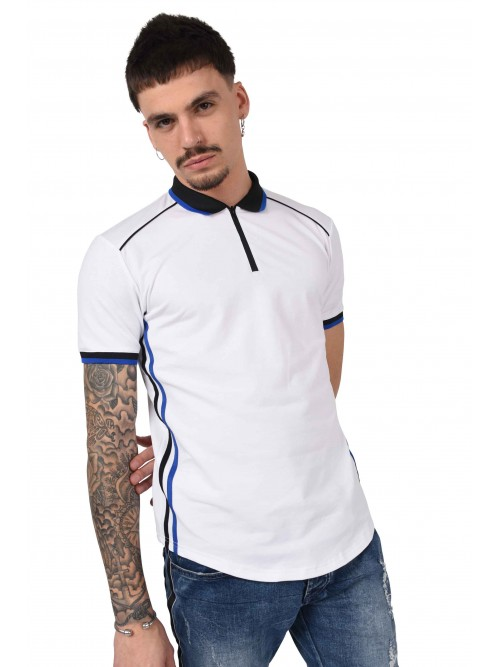 Retro style polo with front half zip Project X Paris