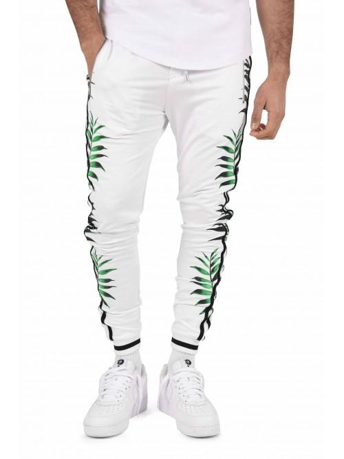 Pantalon de jogging imprimé tropical double bandes sur les côtés Homme  Project X Paris 16dbccc4359b