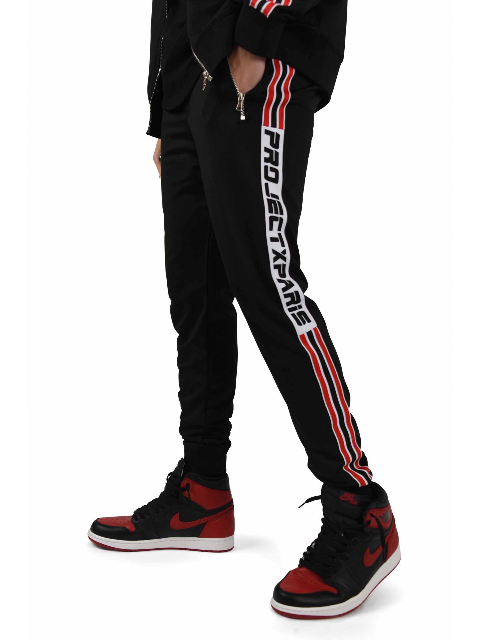 pantalon de jogging bandes racing homme project x paris. Black Bedroom Furniture Sets. Home Design Ideas