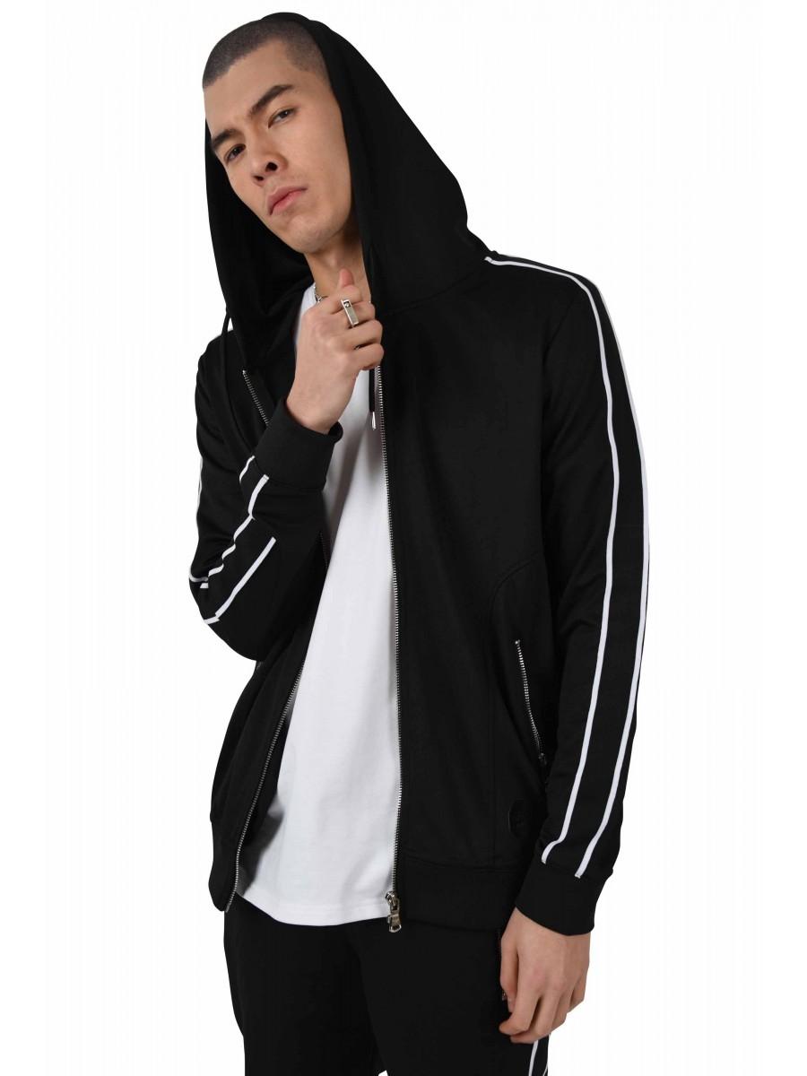 c1aa431321ca Veste à capuche bandes bicolores contrastantes Homme Project X Paris