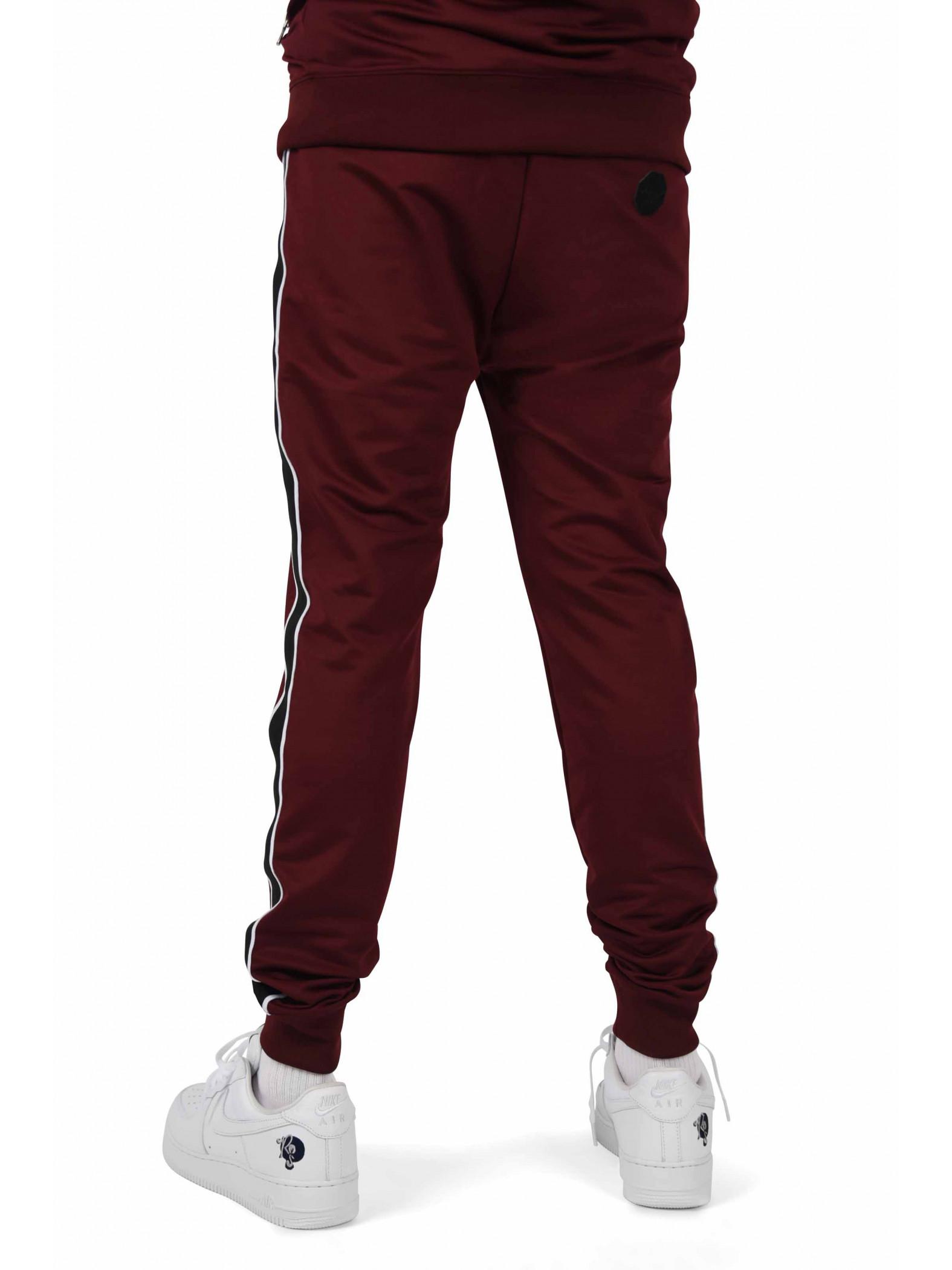 Pantalon de jogging bandes latérales bicolores contrastantes