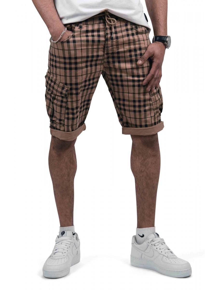 design exquis Promotion de ventes sensation de confort Short cargo à carreaux Écossais